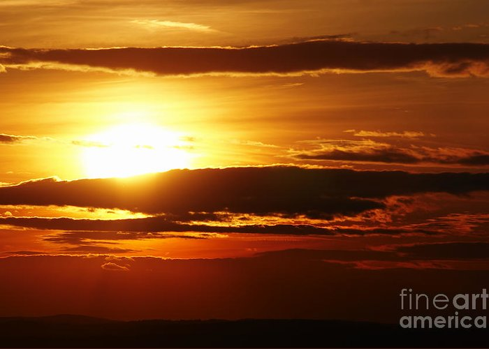 Sunset Greeting Card featuring the photograph Sunset by Michal Boubin