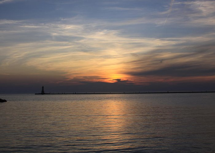 Sunset Greeting Card featuring the photograph Sunset Reflections by Chuck Bailey