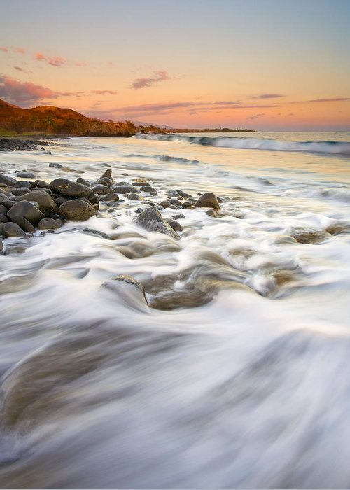 Beach Greeting Card featuring the photograph Sunset Tides by Mike Dawson
