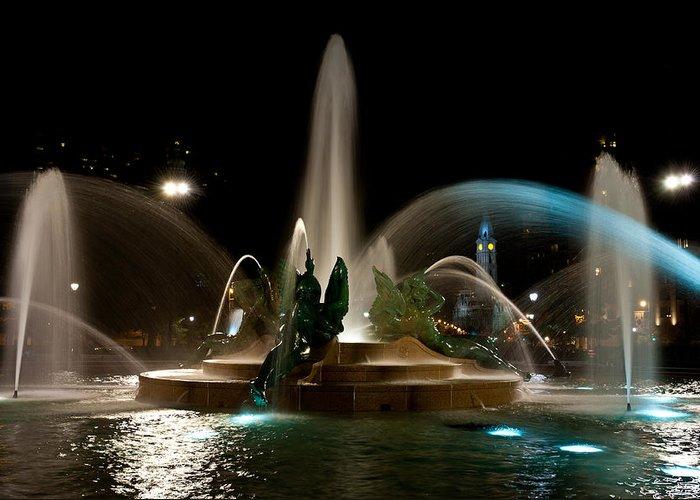 Fountains Greeting Card featuring the photograph Swann Memorial Fountain by Louis Dallara