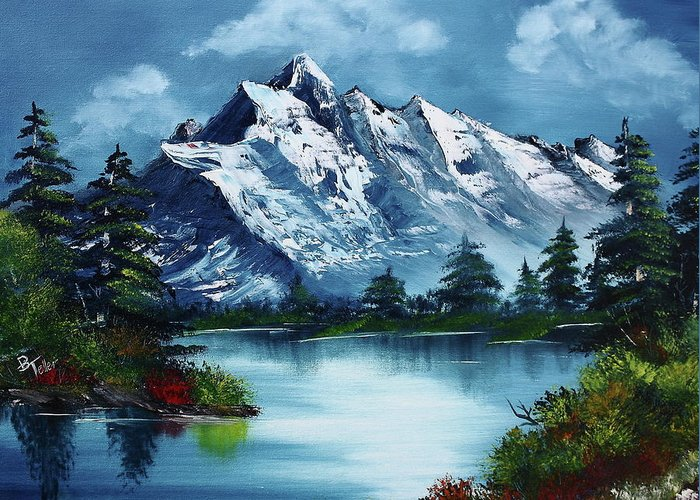 Bob Ross Paintings Greeting Cards