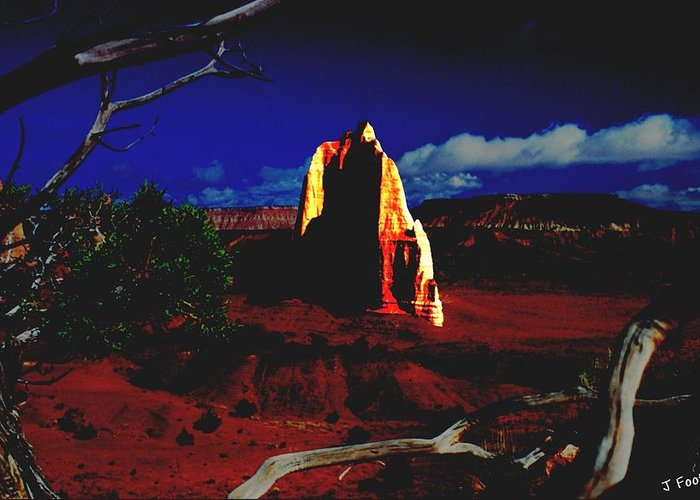 Temple Of The Moon Greeting Card featuring the photograph Temple Of The Moon 2 by John Foote