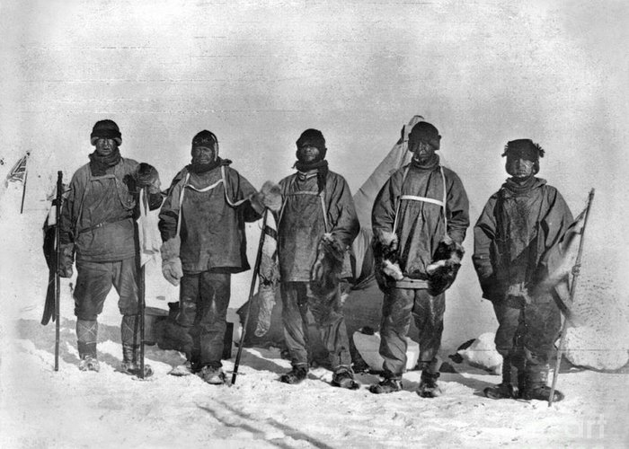 1912 Greeting Card featuring the painting Terra Nova Expedition by Granger