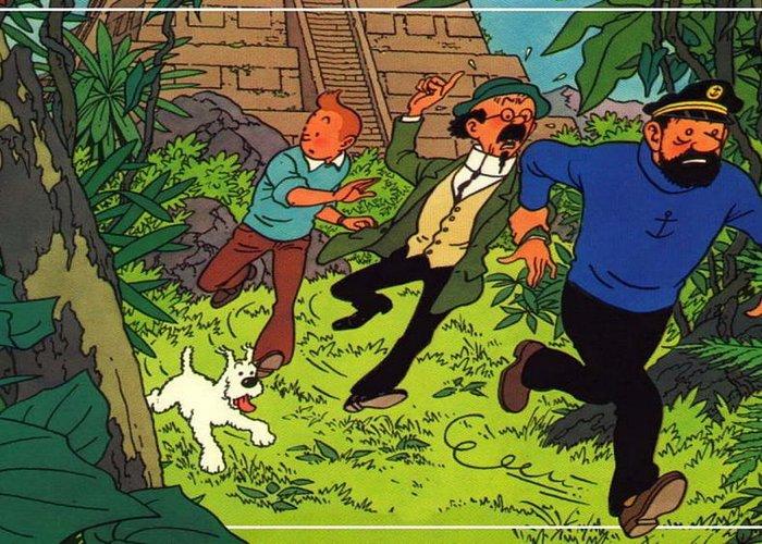 The Adventures Of Tintin Greeting Card featuring the digital art The Adventures Of Tintin by Dorothy Binder