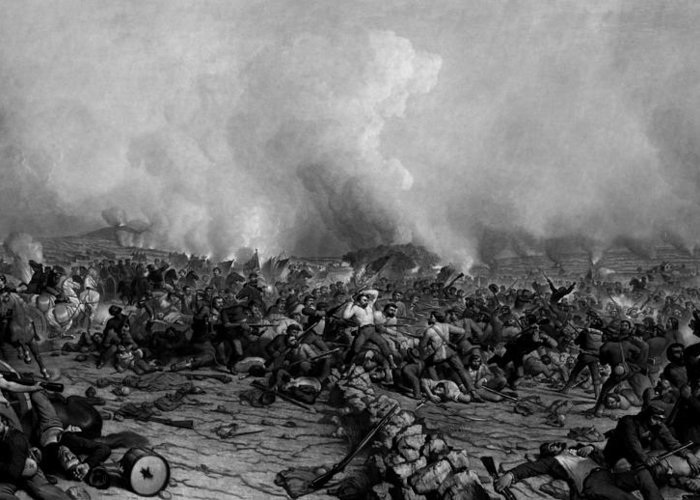 Gettysburg Greeting Card featuring the drawing The Battle Of Gettysburg by War Is Hell Store