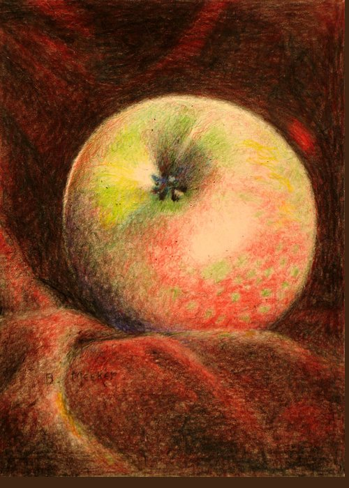 Apple Greeting Card featuring the painting The Big Apple by Bill Meeker