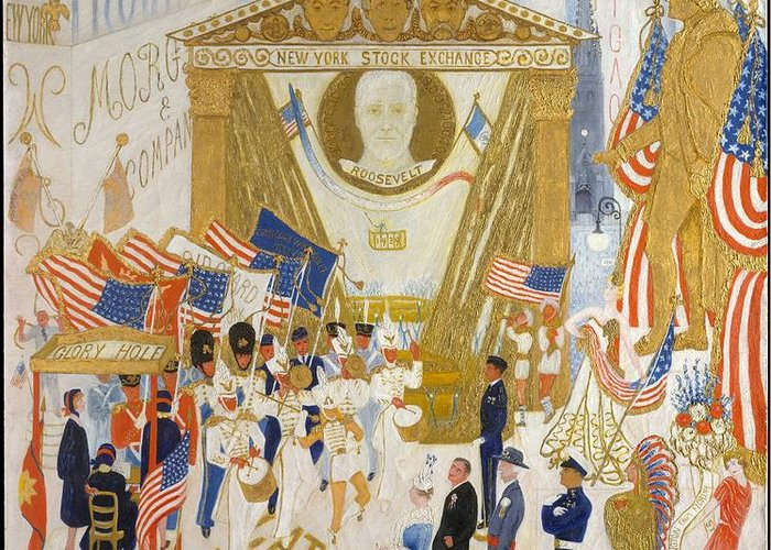 The cathedrals of wall street greeting card for sale by florine florine stettheimer the cathedrals of wall street greeting card featuring the painting the cathedrals of wall m4hsunfo