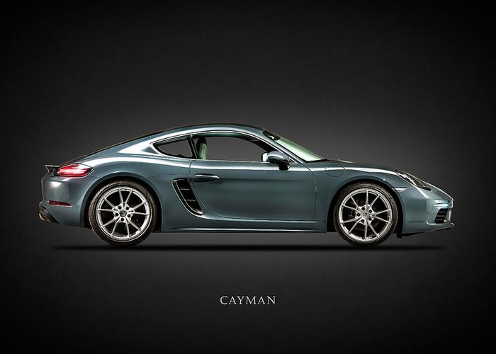 Porsche Cayman Greeting Card featuring the photograph The Cayman 1 by Mark Rogan