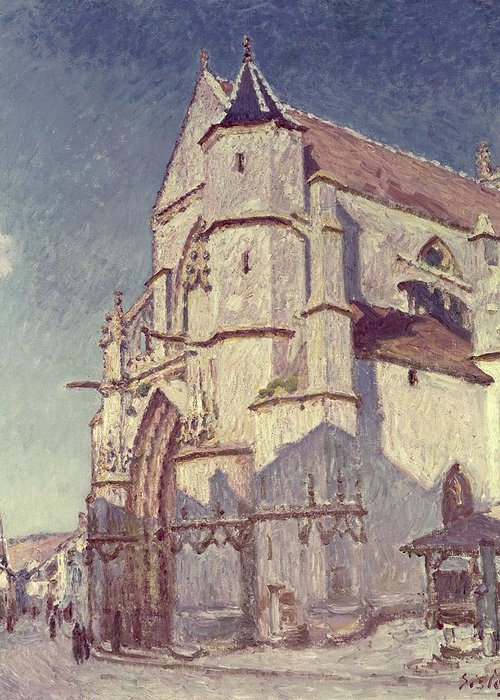The Church At Moret Greeting Cards