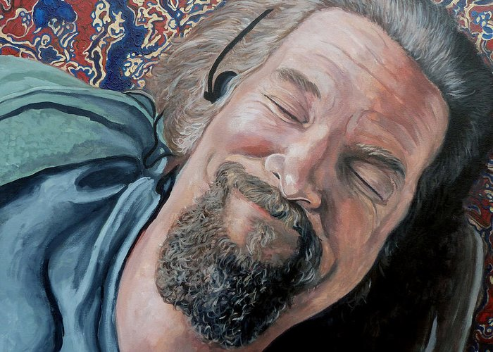 Dude Greeting Card featuring the painting The Dude by Tom Roderick