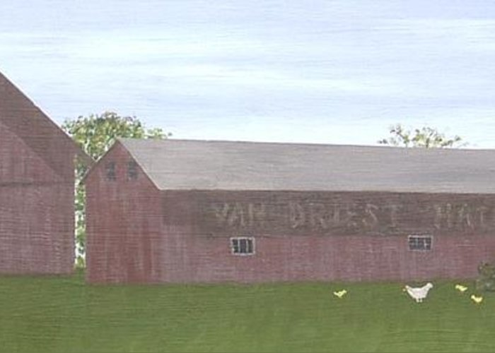 Chickens Farm Hatchery Country Greeting Card featuring the painting The Hatchery by Sally Van Driest