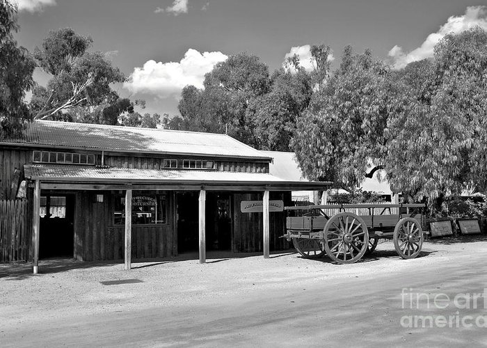 Echuca Greeting Card featuring the photograph The Heritage Town Of Echuca Victoria Australia by Kaye Menner