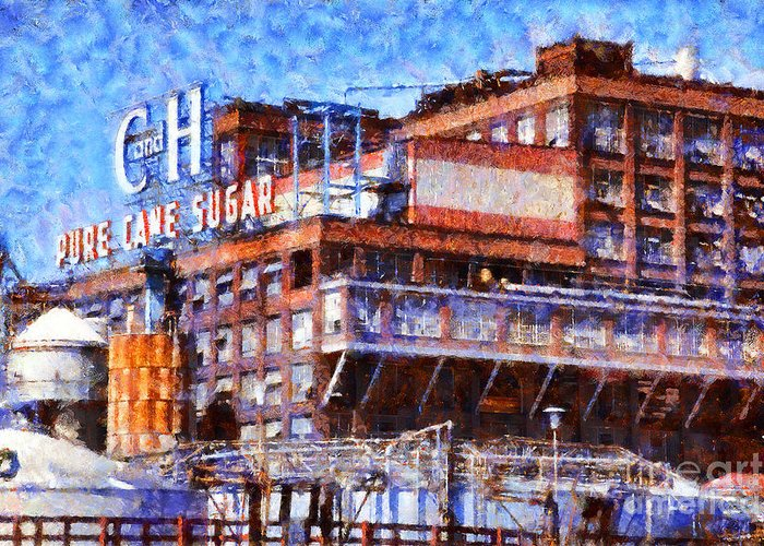 California Greeting Card featuring the photograph The Old C And H Pure Cane Sugar Plant In Crockett California . 5d16769 by Wingsdomain Art and Photography