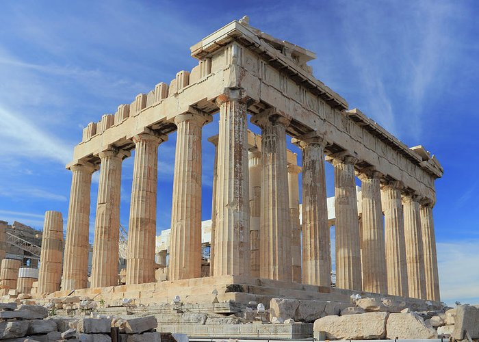 Acropolis Greeting Card featuring the photograph The Parthenon Acropolis Athens Greece by Ivan Pendjakov