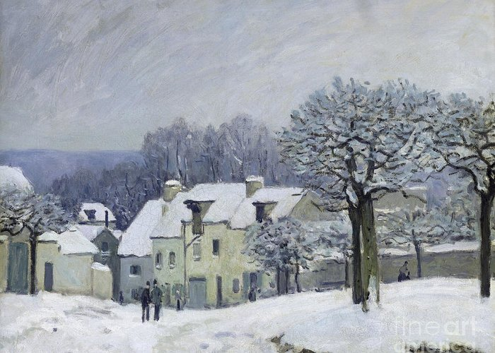 The Place Du Chenil At Marly-le-roi Greeting Card featuring the painting The Place Du Chenil At Marly Le Roi by Alfred Sisley