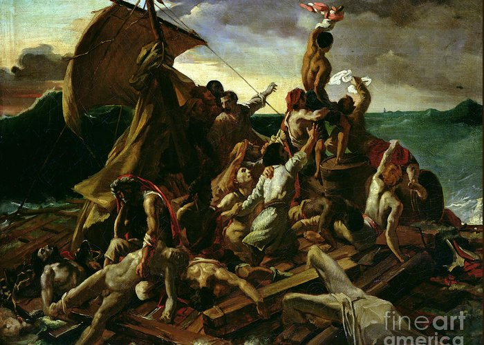 The Raft Of The Medusa Greeting Card featuring the painting The Raft Of The Medusa by Theodore Gericault