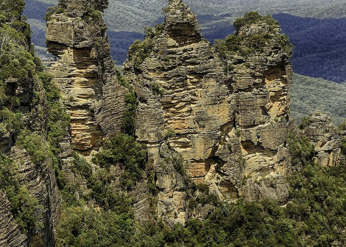 Sydney Greeting Card featuring the photograph The Three Sisters by Chris Cousins