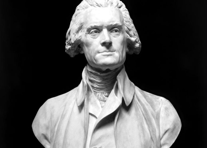18th Century Greeting Card featuring the photograph Thomas Jefferson (1743-1826) by Granger