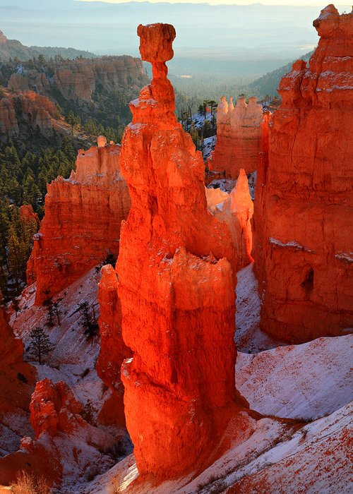 Bryce Greeting Card featuring the photograph Thor's Hammer In Bryce Canyon by Pierre Leclerc Photography
