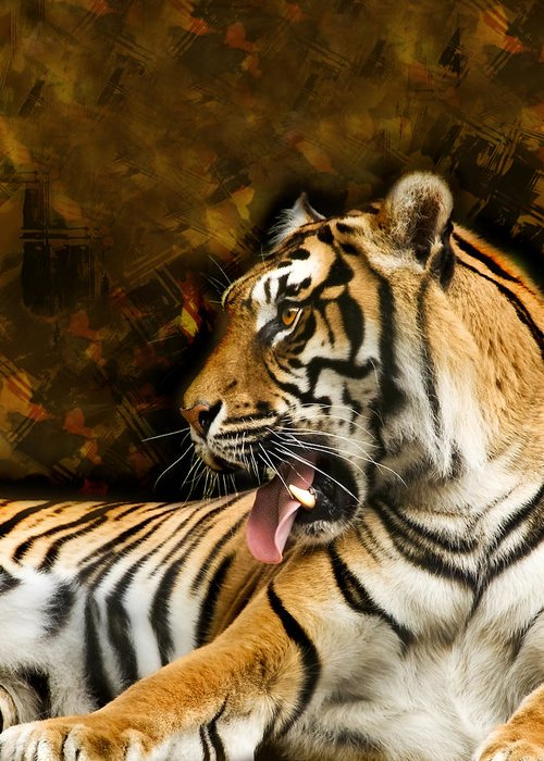 Animal Greeting Card featuring the photograph Tiger by Svetlana Sewell
