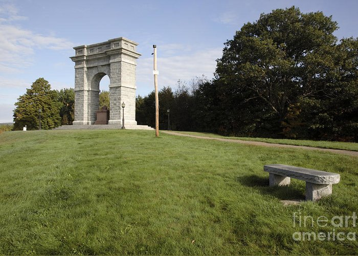 Granite Greeting Card featuring the photograph Titus Arch Replica - Northfield Nh Usa by Erin Paul Donovan