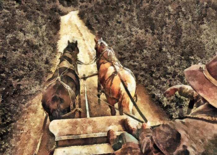 Cowboy Greeting Card featuring the painting Travel by Naman Imagery