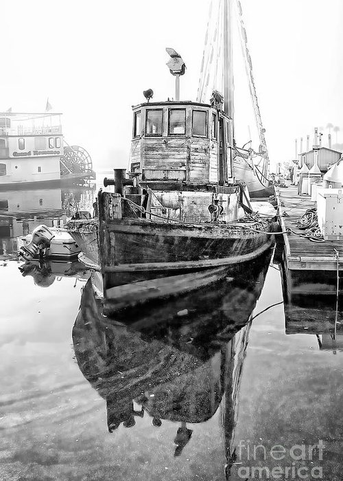Landscape Photographs Photographs Greeting Card featuring the photograph Tug Boat by Hartono Tai
