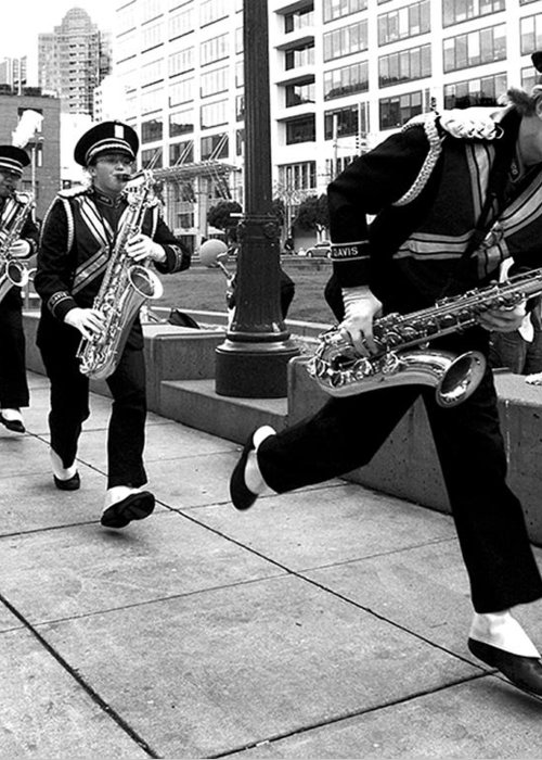 Marching Band Greeting Card featuring the photograph Tune Up by Sabine Stetson