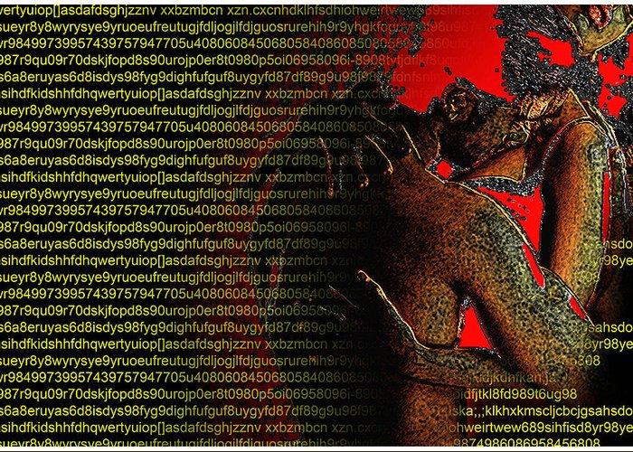 Digital Greeting Card featuring the digital art Untitled by Bharat Gothwal