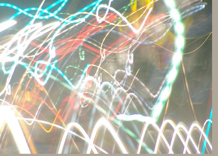 Light Graffiti Greeting Card featuring the photograph Vibrance by Thomas MacPherson Jr