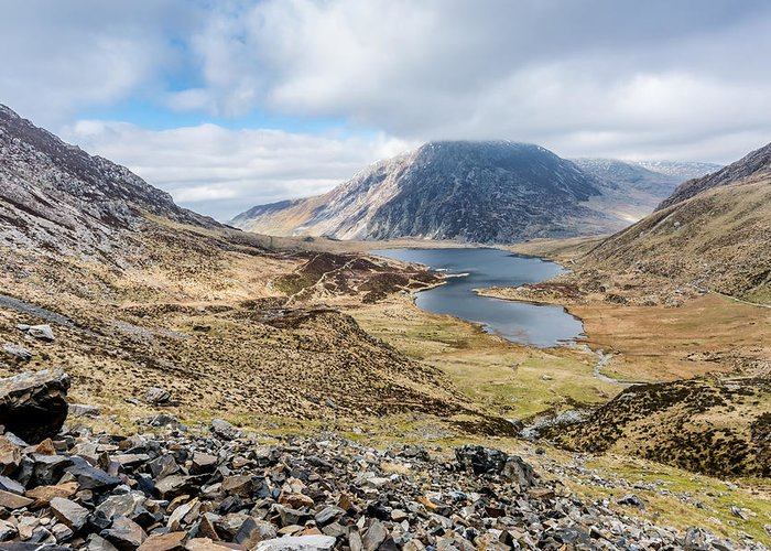 Mountain Greeting Card featuring the photograph View From Glyder Fawr by Nick Bywater