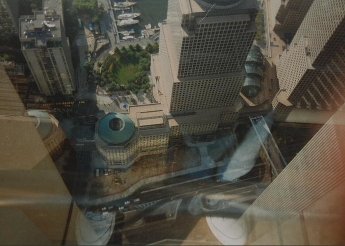 Wtc Greeting Card featuring the photograph View From The W T C by Rob Hans