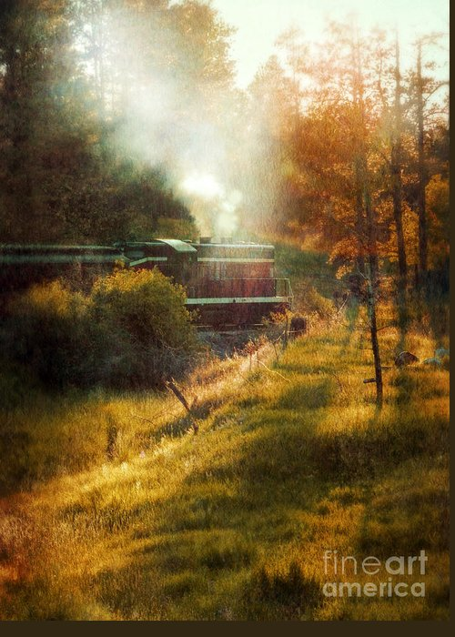 Engine Greeting Card featuring the photograph Vintage Diesel Locomotive by Jill Battaglia