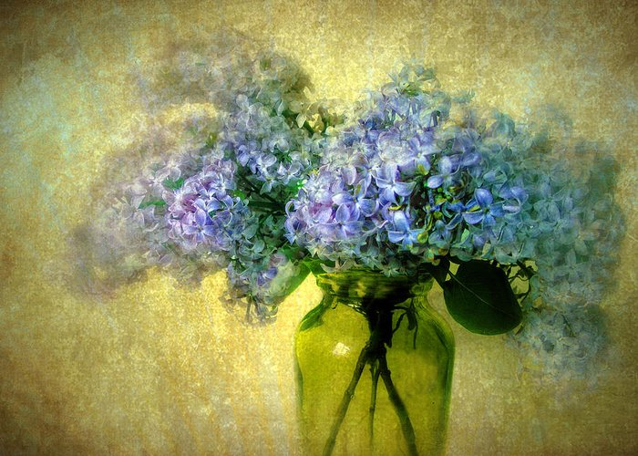 Flowers Greeting Card featuring the photograph Vintage Lilac by Jessica Jenney