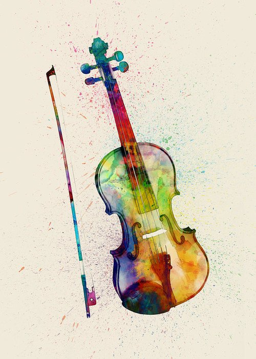 String Instrument Greeting Cards