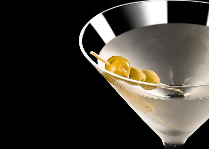 Alcohol Greeting Card featuring the photograph Vodka Martini by U Schade