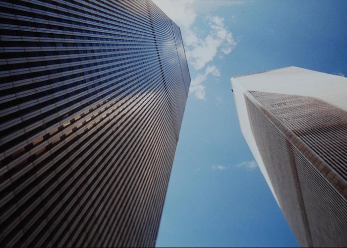 Wtc Greeting Card featuring the photograph W T C 1 And 2 by Rob Hans