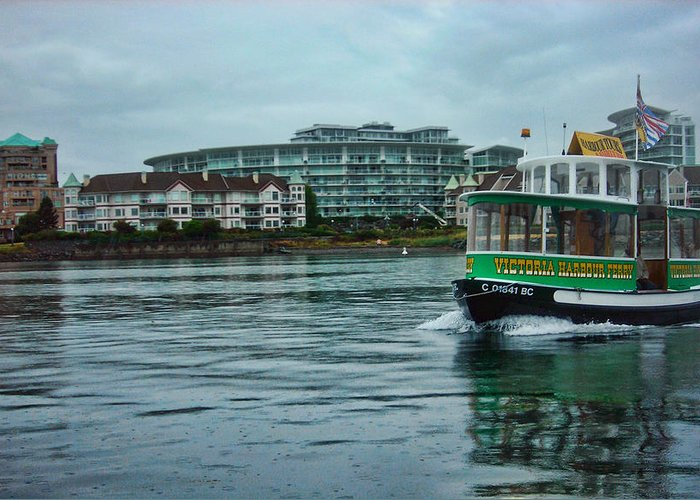 River Greeting Card featuring the photograph Water Bus by Anastasia Michaels