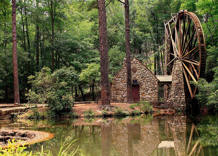 Berry College Greeting Card featuring the photograph Water Wheel by Jason Blalock