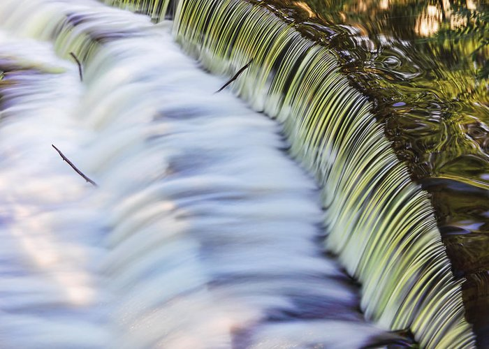 Waterfall Greeting Card featuring the photograph Waterfall by June Marie Sobrito