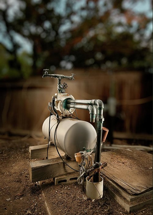 Mechanical Greeting Card featuring the photograph Well Pump by Yo Pedro