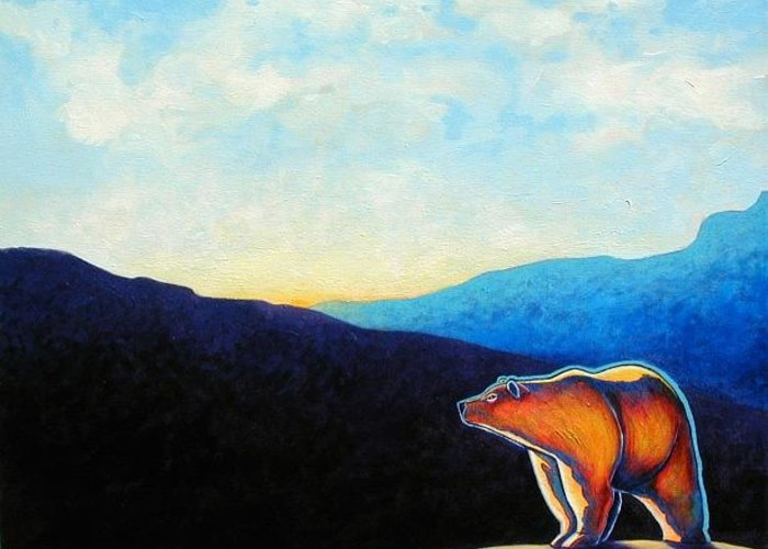 Wildlife In Nature Greeting Card featuring the painting Where Less Is More by Joe Triano