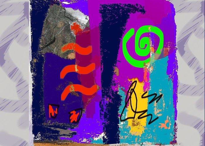 Abstract Handbag Drawing Greeting Cards