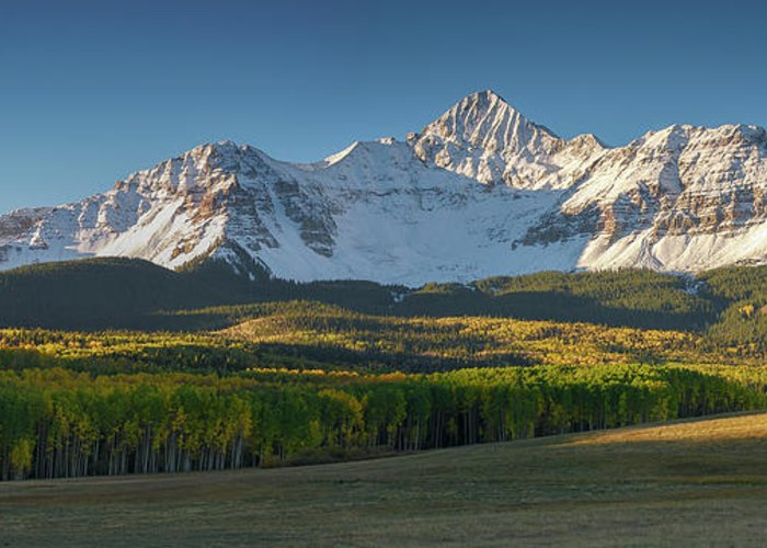 Telluride Greeting Card featuring the photograph Wilson Peak Panorama by Aaron Spong