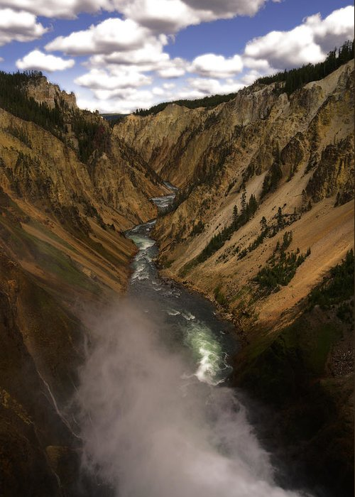 Yellowstone Greeting Card featuring the photograph Yellowstone Grand Canyon by Patrick Flynn