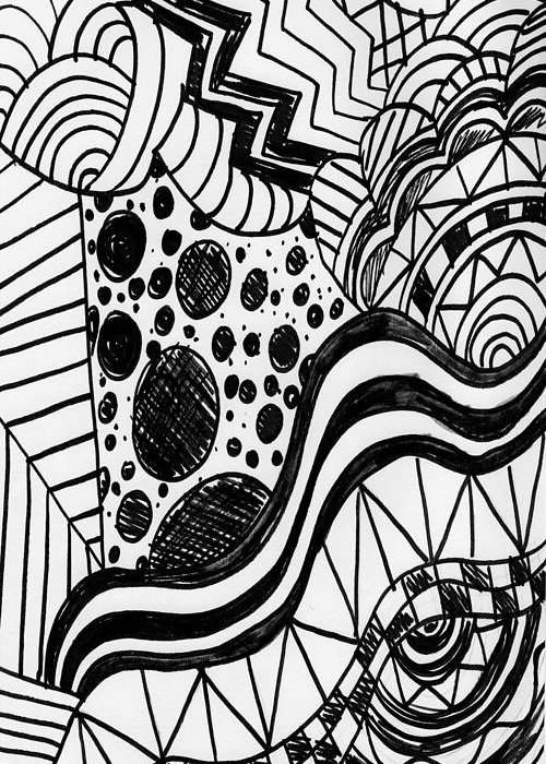 Zendoodle design greeting card for sale by alicia counter zendoodle designs greeting card featuring the drawing zendoodle design by alicia counter m4hsunfo