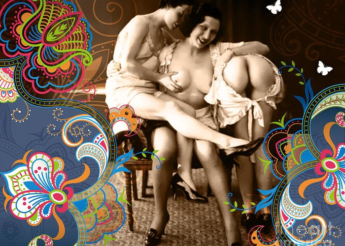 Erotic Greeting Card featuring the photograph Goddesses by Chris Andruskiewicz