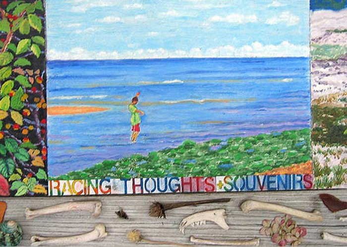 Cape Cod Greeting Card featuring the painting I Sell Prints by Susan Stewart