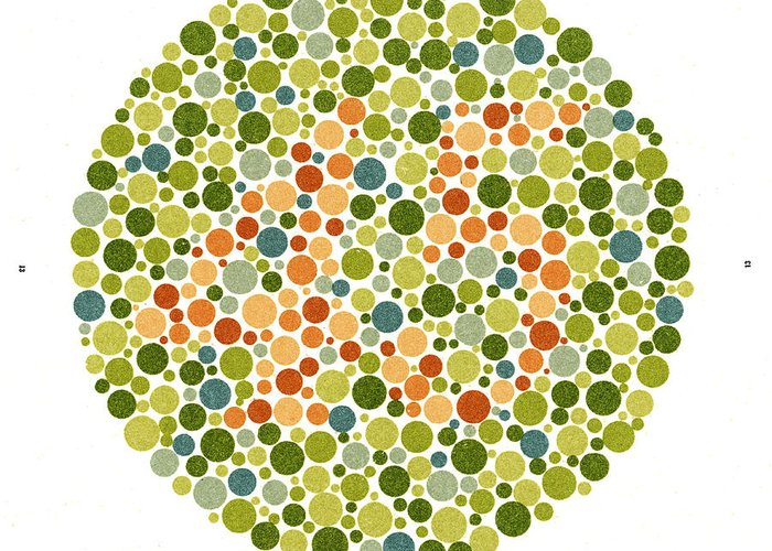 Ishihara Color Blindness Test Greeting Card For Sale By
