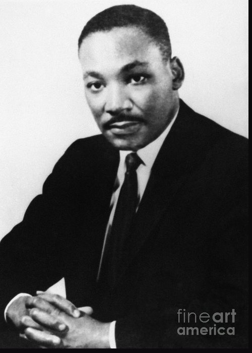 1968 Greeting Card featuring the photograph Martin Luther King, Jr by Granger